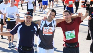 George Roa, Vincent Carrotozzolo, me. At mile 19.