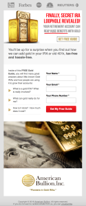 American Bullion - Email Campaign Variation