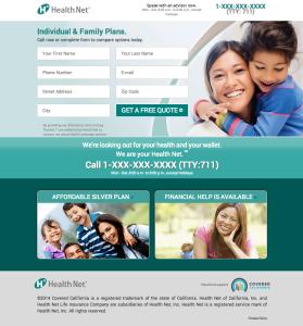 HealthNet Landing Page