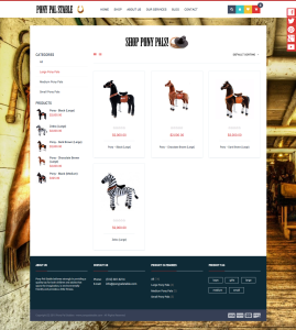Pony Pal Stable Products Page