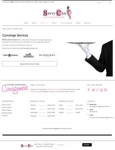 Savvy Chic Consignment - Inner Page