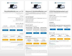 WorldWideMarkets Multilingual Email Template