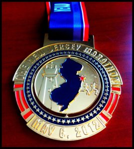 2012 NJ Marathon Finisher Medal
