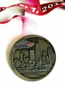 2012 Chicago Marathon Finisher Medal.