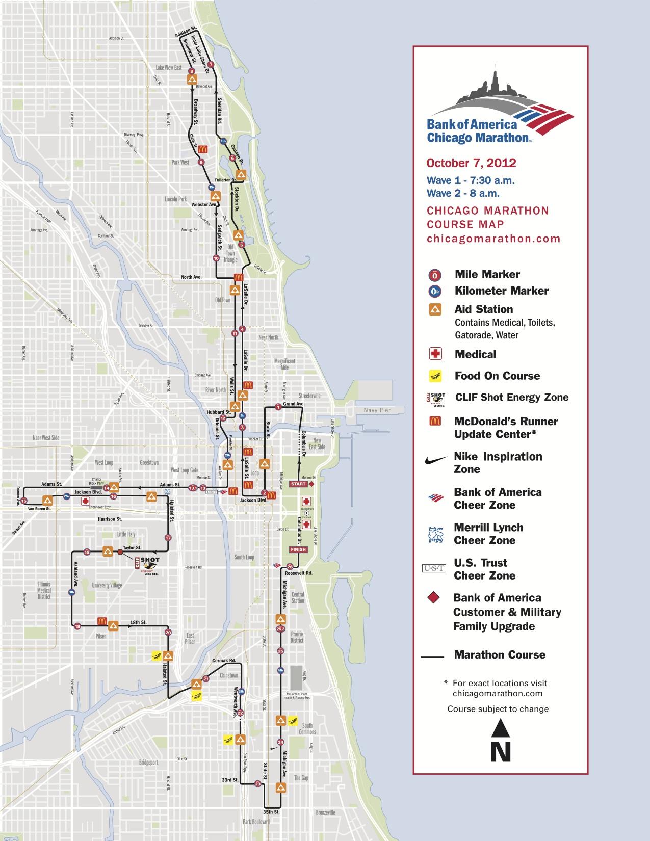 Chicago Marathon Course Map  My blog