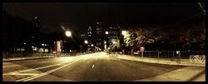 Starting line, night before.