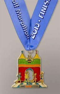 2013 ING Hartford Marathon Finisher Medal