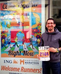 At the Hartford Marathon Expo with Bib