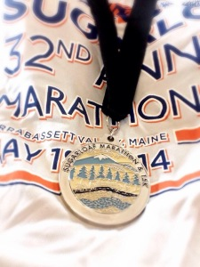 Race t-shirt and medal.