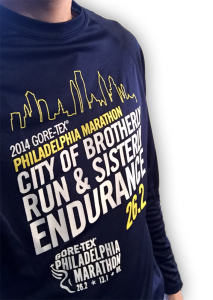 2014 Philadelphia Marathon Shirt.