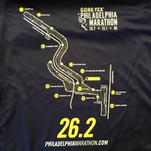 2014 Philadelphia Marathon Shirt - Back.