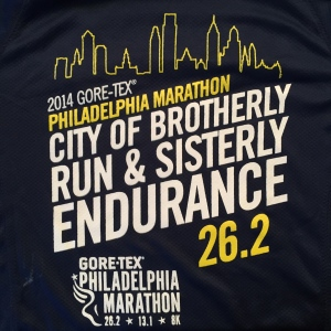 2014 Philadelphia Marathon Shirt - Front.