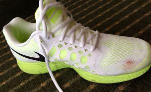It's a good run when you bleed through your sneaker!