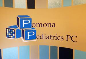 Pomona Pediatrics Wall Decal in office