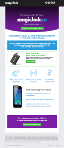 Email Template, with content, for magicJackGo