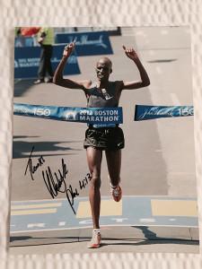 Signed Wesley Korir photo