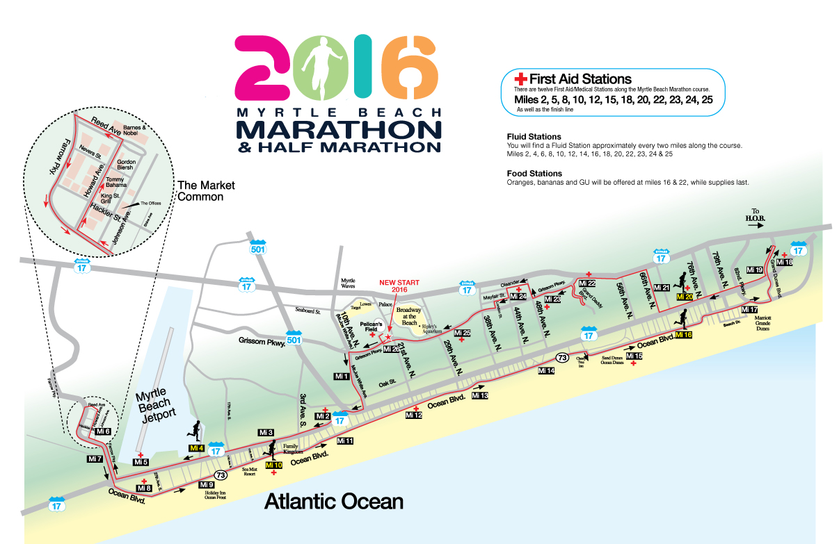 LOCATION Start Finish Myrtle Beach SC Course Map