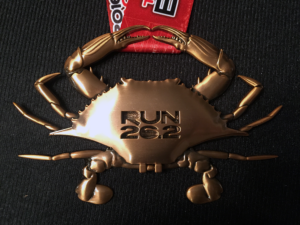 2016 Baltimore Marathon Finisher Medal Closed