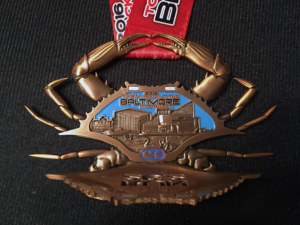 2016 Baltimore Marathon Finisher Medal Open