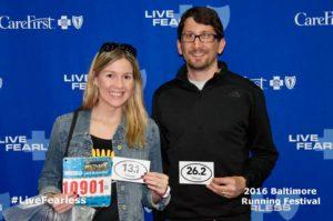 Kristen & Jonathan at the Marathon Expo