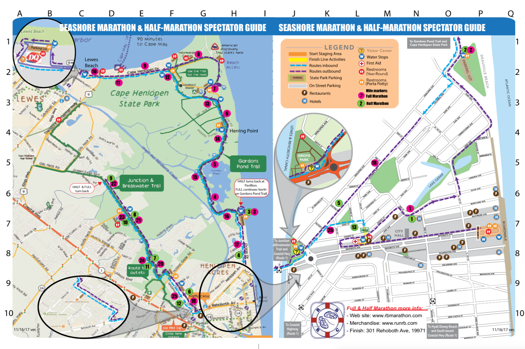 Rehoboth Beach De Course Map